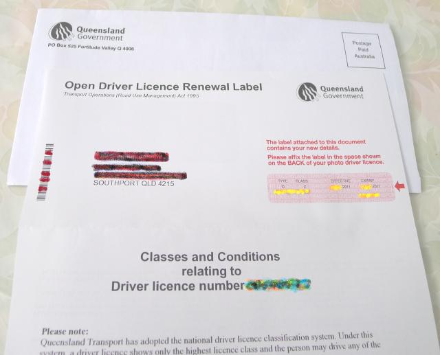 Open Driver License Renewal Label