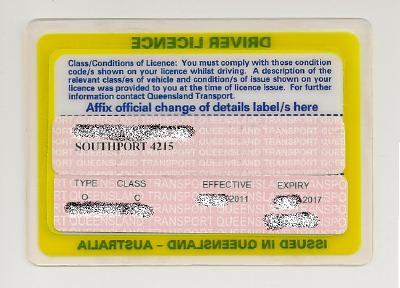 Driver License Renewal Label