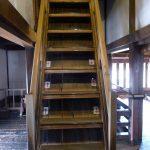 松本城 天守五階への階段